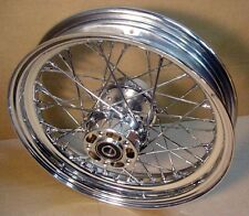 Chrome Spoke Laced Rear Wheel fits Harley Softail ~ XL ~ FXD ~ FLHT