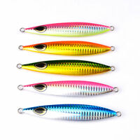 5pcs Lead Fish 60g fishing lures 5 color Bait Casting Lure Deep Spoon Bass Jigs