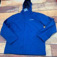 Columbia Mens Waterproof Jacket Size Medium Blue New NWT L206