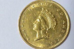 1855 $1 GOLD DOLLAR COIN  High Grade Tough Date