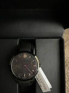 New Movado Men's 0606849 Analog Display Swiss Quartz Black Watch