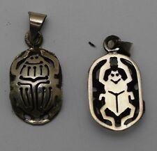 Hallmark Egyptian مصر Egipto Египет Ägypten Pharaoh Silver Pendant,800,Scarab