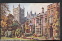 Devon Postcard - Bishop's Palace and Cathedral, Exeter   N487