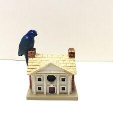 Lenox Miniature Bird House with Indigo Bunting on Chimney of House EUC