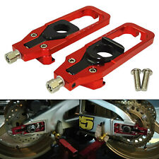 Rear Axle Blocks Chain Adjuster Tensioners Red For BMW HP4 S1000RR 2009-2014 US