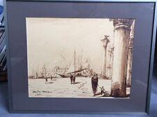 Tableau d' André Maire (1898 - 1985) Vue de la Salute à Venise