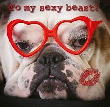 Valentines Day Card General Bulldog Heart Glasses
