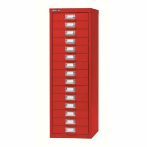 15 Drawer Maxi Tall Filing Cabinet Red - QUALITY DURABLE STEEL METAL
