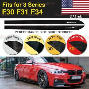 M Performance Side Skirt Vinyl Decal Stickers for BMW F30 F31 F34 3 Series US