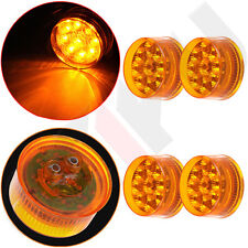 "4x For Truck Trailer Clearance Side Marker Red Lights 2"" Round Flower LED Lamp"