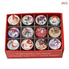 Christmas Tin Smokeless Fragrance Aromatherapy Natural Candle Soy Wax Decor Home