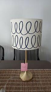 Kate Spade New York Charlotte Street Blue Swirl Table Desk Lamp Free Shipping