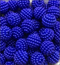 Blue Acrylic Berry Beads (20)