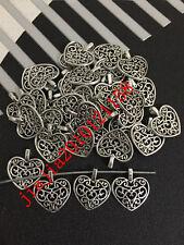 PJ366 20pc Retro Tibetan Silver  ( heart shape ) Jewelry Accessories wholesale