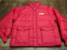 vintage NEW HOLLAND mens 2XL red coat farmer chore Hipster agriculture machinery