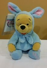 "Disney Store Winnie the Pooh 8"" 1999 ""Mini Bean Bag Easter Bunny Pooh"" *New"