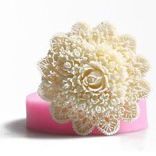 Silicone Rose Shaped Soap Mold Fondant Cake Chocolate Candle Decorating Mould