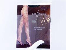 Leg Avenue BLACK Spandex Diamond Net Pantyhose Style 9005 One Size 90 - 160 lbs