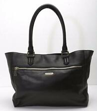 COLE HAAN Classic Black Leather Shoulder Bag Shopper Handbag Purse Tote