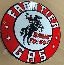 Frontier Oil gas Gasoline Porcelain Advertising Sign