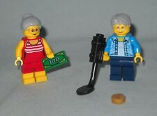 NEW LEGO GRANDPA & GRANDMA MINIFIGS, METAL DETECTOR, FROM 60153 FUN AT THE BEACH