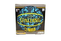"Spalding NBA Graffiti Basketball Recreational Play Blue & Black 27.5"" Youth Size"