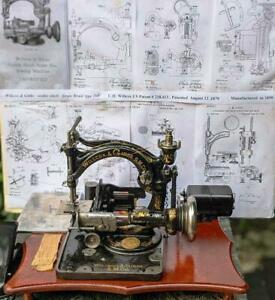 Amazing Antique Willcox&Gibbs type 200 straw braid sewing machine,iron base,1899