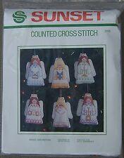 Vintage Sunset Angel Orchestra Ornaments Cross Stitch Kit #2915 Tree Decorations