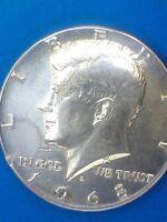 Moneda de 1968 de Plata de Medio Dolar de Estados Unidos de 1968