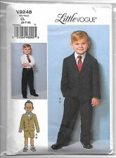 Vogue V9248 6-8 Sewing Pattern Childs Suit: Jacket Long & Short Pants Toddler to