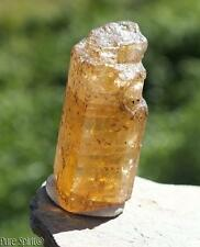 Imperial Golden Topaz Crystal Raw Facet Rough Mineral Uncut Gem Stone 6.8g 23mm