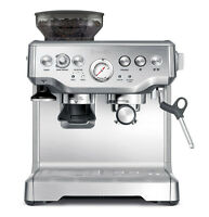 Breville Barista Stainless Steel Espresso Coffee Machine with Grinder BES870XL