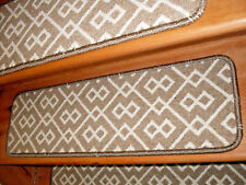 13 Step 9'' x 30'' + 1 Landing 23'' x 30'' Tufted carpet Wool Stair Treads  .
