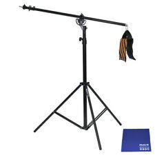 Phot-R 4m Heavy Duty 2-in-1 Rotatable Boom Arm Light Stand Kit Chamois Cloth