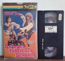VHS FILM Deutsch Azione DIE ACHT TODLICHEN SCHLAGE RARO!!! ex nolo no dvd(VHS17)