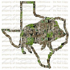 Camo Hog Boar Texas TX State Outline Hunter Vinyl Decal Sticker Hunting