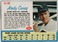 1962 Post #52 Andy Carey EX-EXMT Chicago White Sox