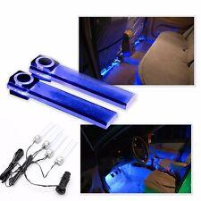 Nuevo 12V 4 LED Azul Luz Interior Coche Auto decoración de luz ambiente Lámpara inUK