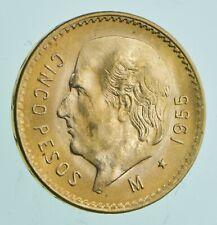 1955 5 Pesos Cinco - Mexico Gold Coin 0.1206 T Oz AGW - Mexican