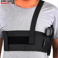 Tactical Universal Waist Band Pistol Gun Armpit Holster Maga Pouch Elastic Belt
