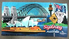 Australian Souvenir Beach Towel Opera House Harbour Bridge Road Sign 100% Cotton