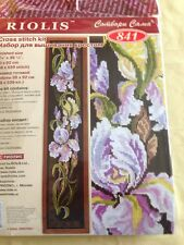 Riolis R841 Irises Counted Cross Stitch.BELL PULL.. New in package BEAUTIFUL