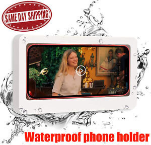 Waterproof Phone Holder Wall Mounted Shower Case Seal Protection For Bathroom