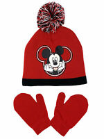 Officially Licensed Disney Mickey Mouse Toddler Boys Pom-Pom Beanie & Mitten