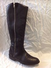 Aldo Black Knee High Leather Boots Size 37.5
