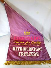 Vintage Gambles Coronado Refrigerators Freezers silk store advertising flag