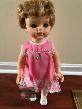 Vintage Eegee Walking Doll with her ORIGINAL TAG & CLOTHES