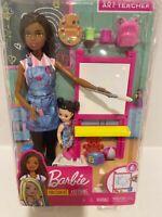 New Barbie Careers Teacher Brunette Doll Play set + student
