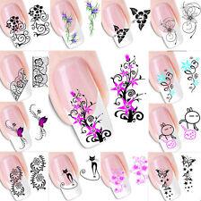 FLOWER Design Nail Art 3d 50pcs Manicure Tips Adesivi Decalcomanie Decorazione fai da te