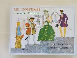 ANCIEN JEU DES FAMILLES F. NATHAN LES COSTUMES A TRAVERS L HISTOIRE